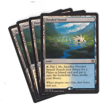 Magic the Gathering Khans of Tarkir PLAYSET Flooded Strand X4- NEAR MINT (NM)