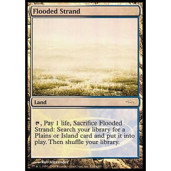 Magic the Gathering Promotional Single Flooded Strand FOIL (JUDGE) - NEAR MINT (NM)