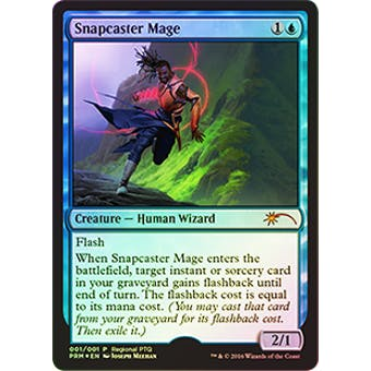 Magic the Gathering Regional PTQ Promo Single Snapcaster Mage FOIL - NEAR MINT (NM)