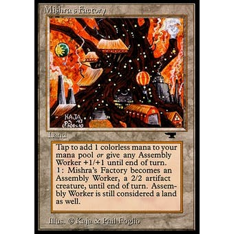 Magic the Gathering Antiquities Single Mishra's Factory (Autumn) - SLIGHT PLAY (SP) Sick Deal Pricing