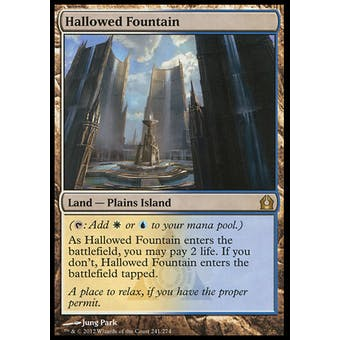 Magic the Gathering Return to Ravnica Single Hallowed Fountain - MODERATE PLAY (MP)
