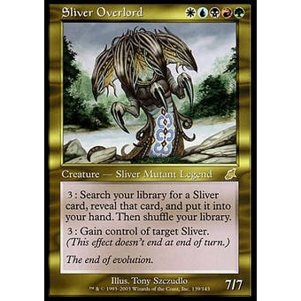 Magic the Gathering Scourge Single Sliver Overlord - MODERATE PLAY (MP)