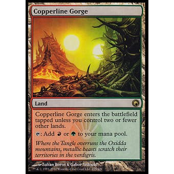 Magic the Gathering Scars of Mirrodin Single Copperling Gorge FOIL - SLIGHT PLAY (SP)