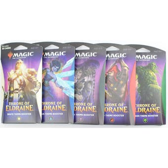 Magic the Gathering Throne of Eldraine Theme Booster - Set of 5