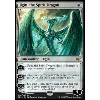 Magic the Gathering Fate Reforged Single Ugin, the Spirit Dragon - SLIGHT PLAY (SP)