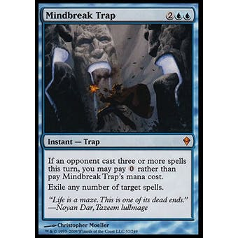 Magic the Gathering Zendikar Single Mindbreak Trap FOIL - SLIGHT PLAY (SP)