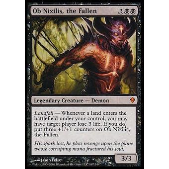 Magic the Gathering Zendikar Single Ob Nixilis, the Fallen FOIL - MODERATE PLAY (MP)