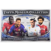 2018 Topps UEFA Champions League Museum Collection Soccer Hobby Box