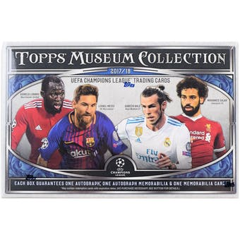 2017/18 Topps UEFA Champions League Museum Collection Soccer Hobby Box