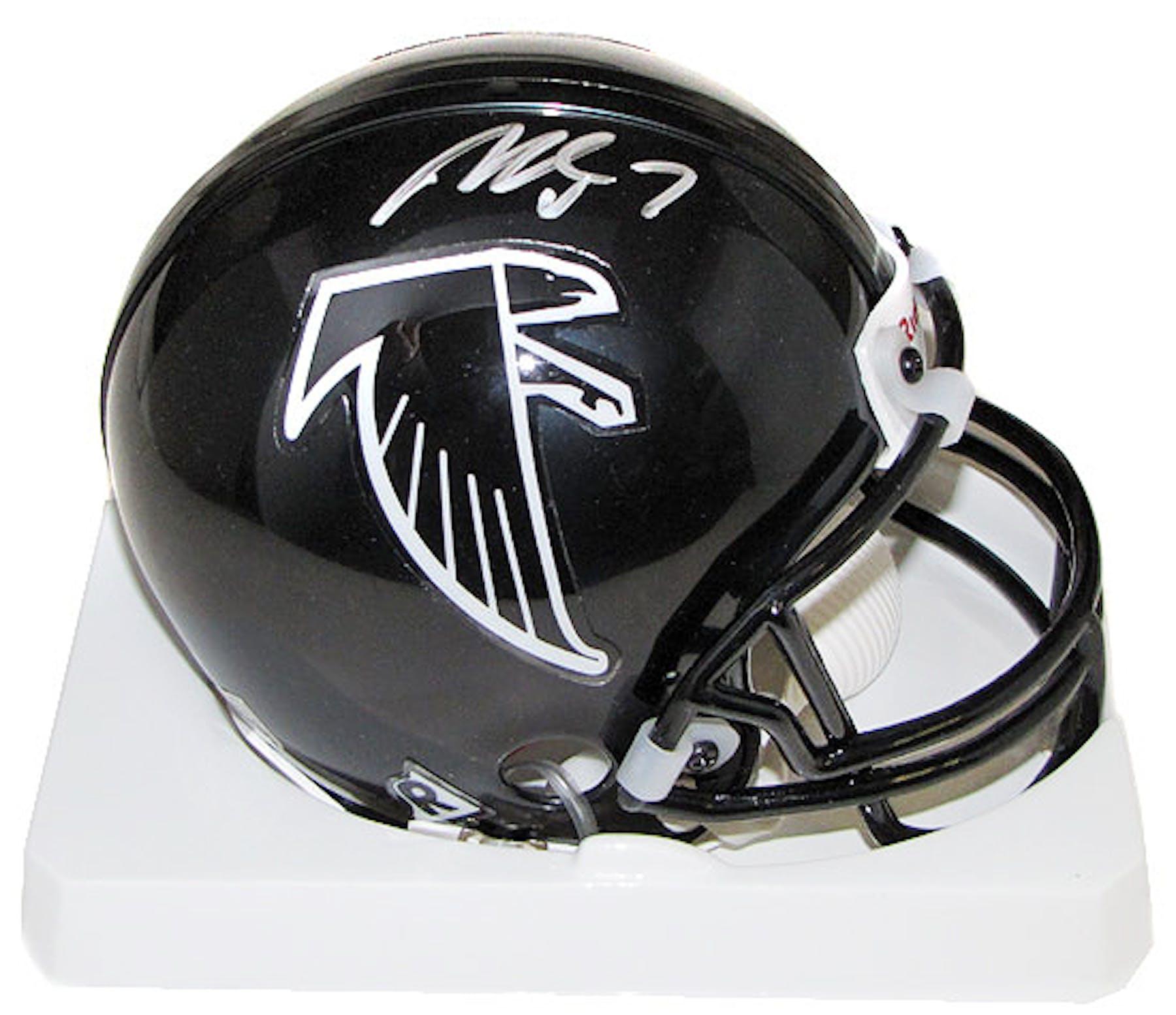 f224375f895 Michael Vick Autographed Atlanta Falcons Mini Football Helmet (PSA ...