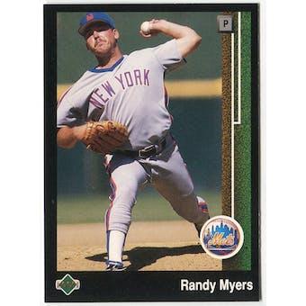 1989 Upper Deck Randy Myers New York Mets Blank Back Black Border Proof
