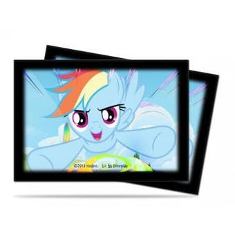 CLOSEOUT - ULTRA PRO MY LITTLE PONY RAINBOW DASH SMALL 60 COUNT DECK PROTECTORS - 10-PACK BOX
