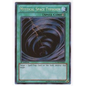 Yu-Gi-Oh Legendary Collection 4 1st Ed. Single Mystical Space Typhoon Secret Rare - SLIGHT PLAY (SP)