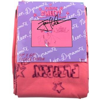 Jon Heder Autographed Napoleon Dynamite Pink Blanket