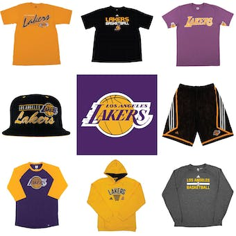 Los Angeles Lakers Officially Licensed NBA Apparel Liquidation - 1,060+ Items, $31,700+ SRP!