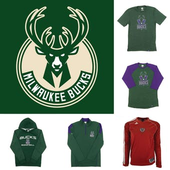 Milwaukee Bucks Officially Licensed NBA Apparel Liquidation - 210+ Items, $11,600+ SRP!