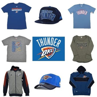 Oklahoma City Thunder Officially Licensed NBA Apparel Liquidation - 860+ Items, $24,000+ SRP!