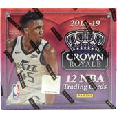 2018/19 Panini Crown Royale Basketball Hobby Box