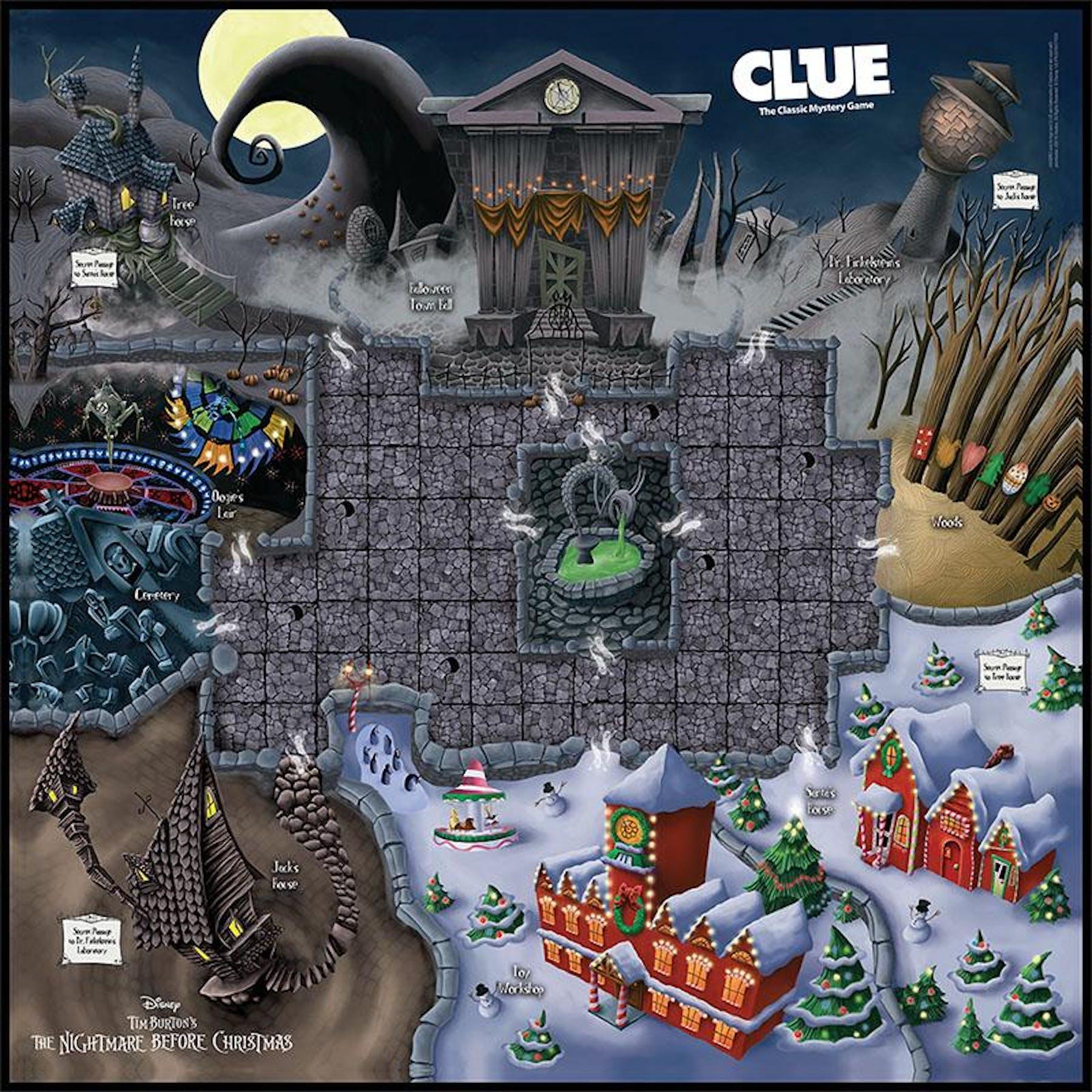 CLUE: Tim Burton\'s The Nightmare Before Christmas (USAopoly) | DA ...