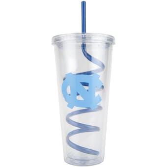 North Carolina Tar Heels Boelter 22oz NCAA Plastic Tumbler With Swirly Straw
