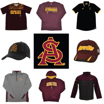 Arizona State Sun Devils Officially Licensed NCAA Apparel Liquidation - 250+ Items, $12,400+ SRP!