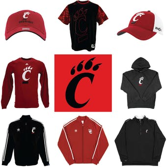 Cincinnati Bearcats Officially Licensed NCAA Apparel Liquidation - 230+ Items, $10,800+ SRP!