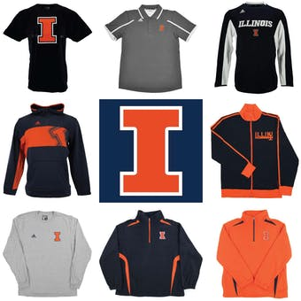 Illinois Fighting Illini Officially Licensed NCAA Apparel Liquidation - 390+ Items, $19,600+ SRP!