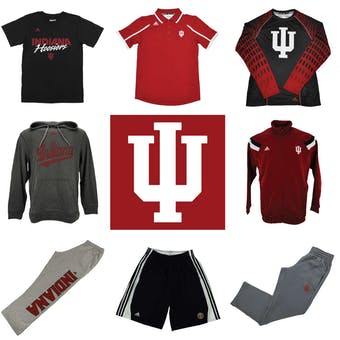 Indiana Hoosiers Officially Licensed NCAA Apparel Liquidation - 610+ Items, $26,800+ SRP!