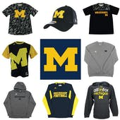 Michigan Wolverines Officially Licensed NCAA Apparel Liquidation - 1,840+ Items, $84,200+ SRP!