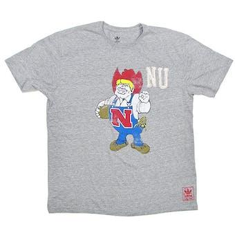 Nebraska Cornhuskers Gray Adidas Herbie Tri-Blend T-Shirt (Adult L)
