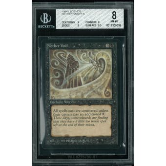 Magic the Gathering Legends Nether Void BGS 8 (9, 8, 8, 8.5)