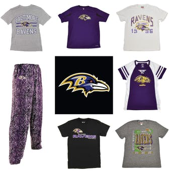 Baltimore Ravens Officially Licensed NFL Apparel Liquidation - 480+ Items, $17,400+ SRP!