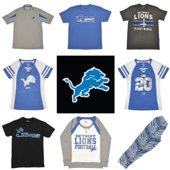 Detroit Lions Officially Licensed NFL Apparel Liquidation - 440+ Items, $22,800+ SRP!