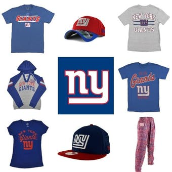 New York Giants Officially Licensed NFL Apparel Liquidation - 340+ Items, $14,300+ SRP!
