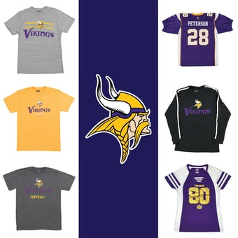 Minnesota Vikings Officially Licensed NFL Apparel Liquidation - 270+ Items, $16,000+ SRP!