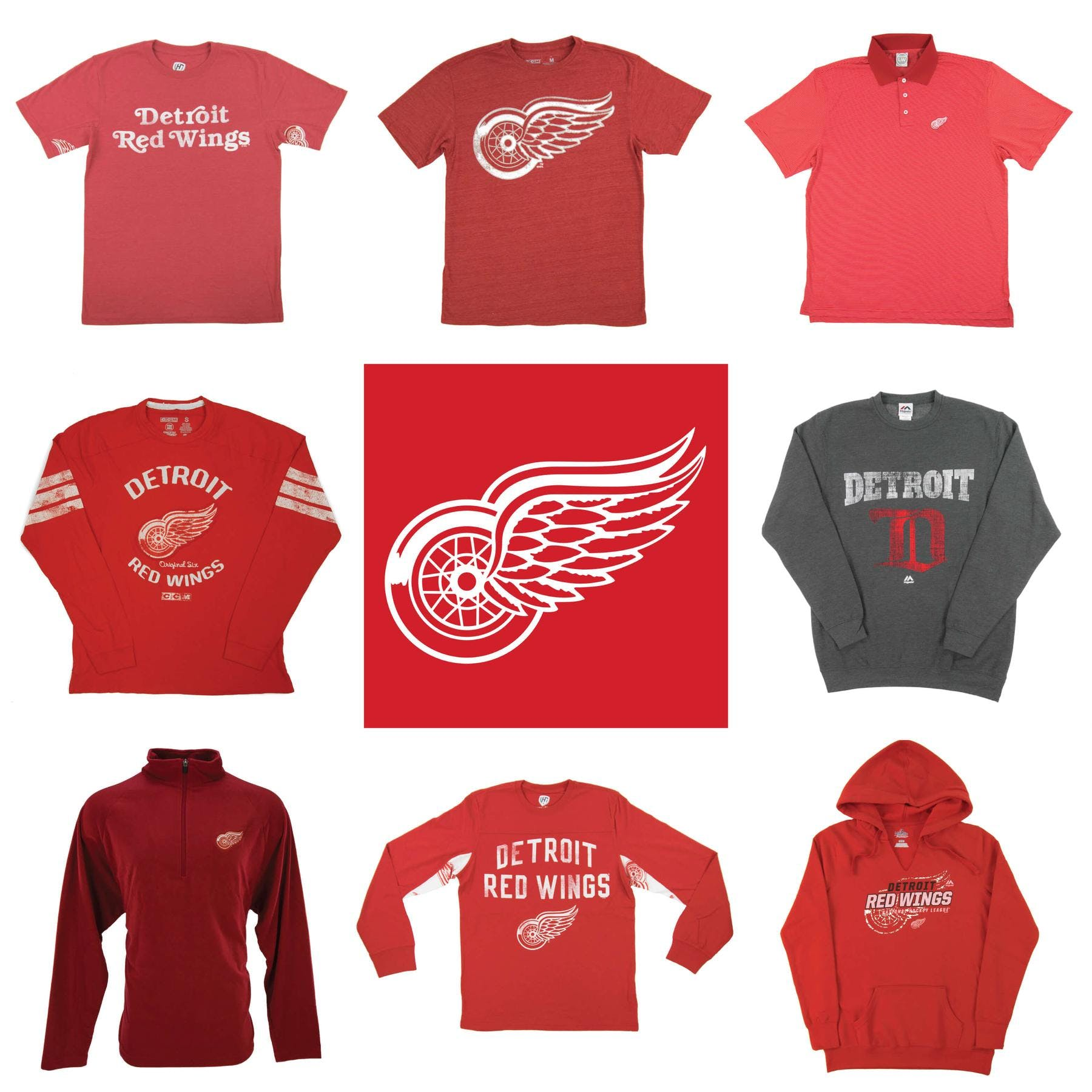 cozy fresh 3db85 eb291 Detroit Red Wings Officially Licensed NHL Apparel Liquidation - 2,460+  Items, $92,500+ SRP!