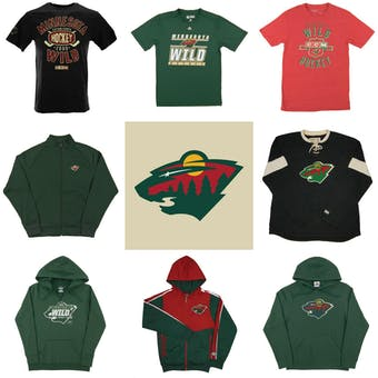 Minnesota Wild Officially Licensed NHL Apparel Liquidation - 1,650+ Items, $70,600+ SRP!