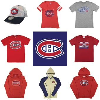 Montreal Canadiens Officially Licensed NHL Apparel Liquidation - 1,070+ Items, $45,000+ SRP!