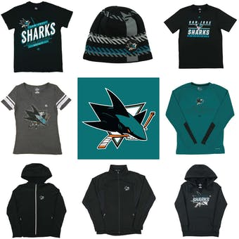 San Jose Sharks Officially Licensed NHL Apparel Liquidation - 2,020+ Items, $82,000+ SRP!