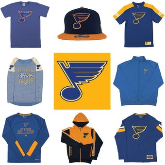 St. Louis Blues Officially Licensed NHL Apparel Liquidation - 610+ Items, $30,000+ SRP!