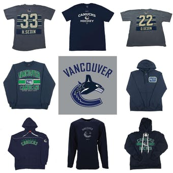 Vancouver Canucks Officially Licensed NHL Apparel Liquidation - 1,220+ Items, $41,000+ SRP!