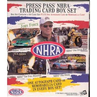 2005 Press Pass NHRA Drag Racing Hobby Box Set