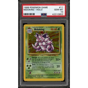 Pokemon Base Set Unlimited Nidoking 11/102 PSA 10 GEM MINT