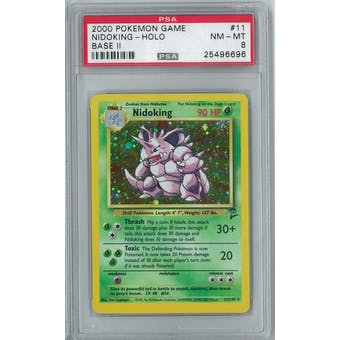 Pokemon Base Set 2 Nidoking 11/130 PSA 8