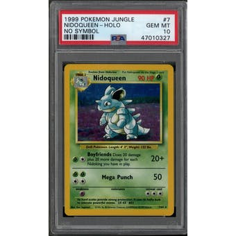 Pokemon Jungle No Symbol Nidoqueen 7/64 PSA 10 GEM MINT
