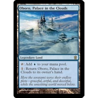 Magic the Gathering Saviors of Kamigawa Oboro, Palace in the Clouds FOIL SLIGHT PLAY (SP)