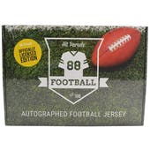 2019 Hit Parade Autographed OFFICIALLY LICENSED Football Jersey Hobby Box - Series 2 - Tom Brady & Joe Namath!