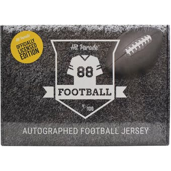 2019 Hit Parade Autographed OFFICIALLY LICENSED Football Jersey Hobby Box - Series 1 - TOM BRADY!!!!
