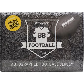 2021 Hit Parade Autographed OFFICIALLY LICENSED Football Jersey - Series 1 - Hobby Box - Manning & Rodgers!