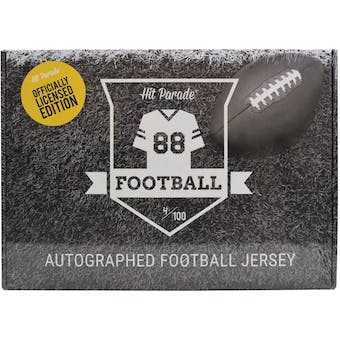2021 Hit Parade Autographed OFFICIALLY LICENSED Football Jersey - Series 3 - Hobby Box - Mahomes!!!